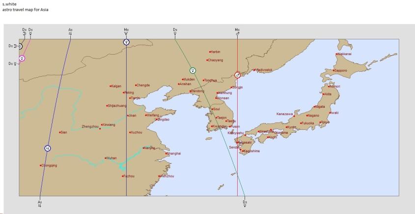 s.white asia map