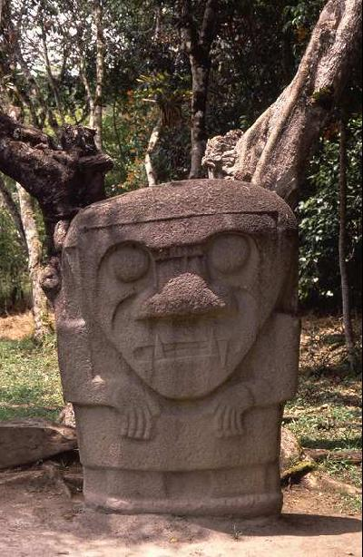 """「独特な石像の""""サン・アグスティン遺跡""""」(コロンビア)"""