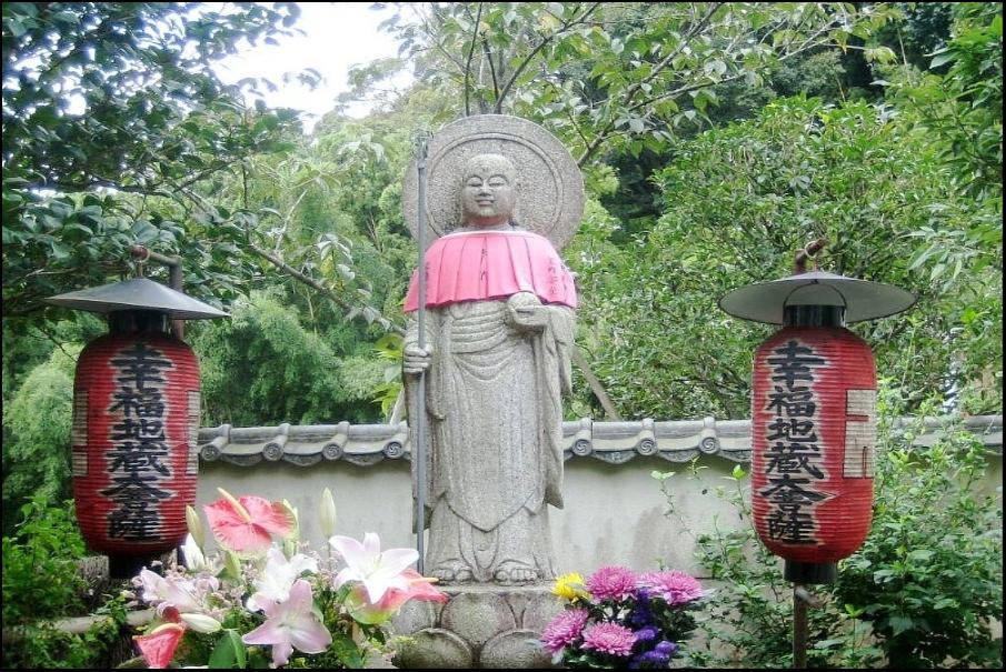 ひとつだけ願いを叶えてくれる幸福地蔵さんがいる「鈴虫寺」